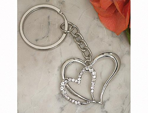 FavorOnline Elegant Chrome Double Heart -