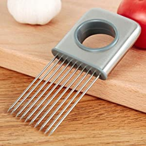 New Onion Holder Slicer Vegetable tools Tomato Cutter Stainless Steel Kitchen Gadget