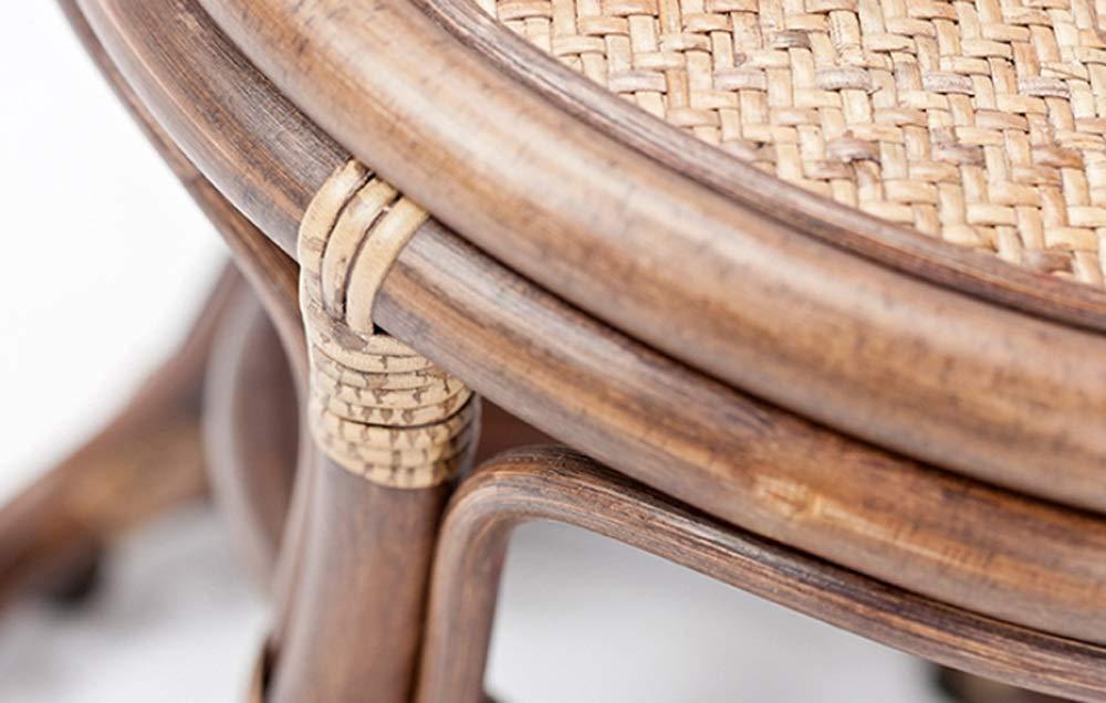 AO-stools Rattan Short Drum Stool Home Small Stool Dressing Stool Ottoman Laundry Stool 42x36cm by AO (Image #2)