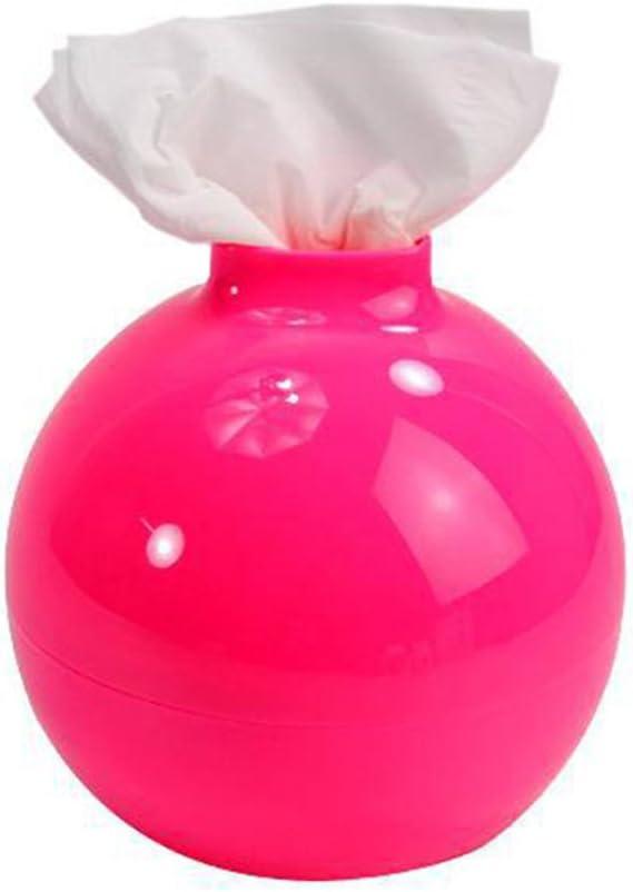 ABS-Kunststoff Papiert/ücherhalter JiALONGZI Kreative Taschentuchbox-Abdeckung rose 17*17*17cm bunte Plastikbomben Haushaltsgegenst/ände