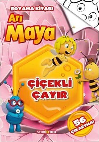 Cicekli Cayir Ari Maya Boyama Kitabi Collective 9786050934410