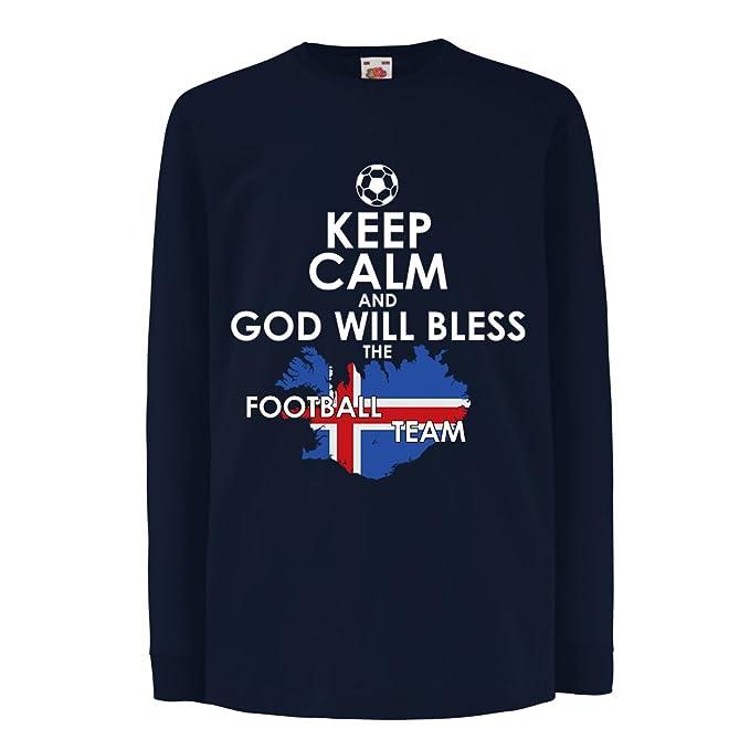 lepni.me Niños/Niñas Camiseta Islandia - Equipo Nacional de Fútbol, Campeonato Mundial de Fútbol de la Copa Mundial 2018: Amazon.es: Ropa y accesorios