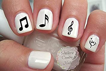Amazon music note nail decal musical notes nail design beauty music note nail decal musical notes nail design prinsesfo Image collections