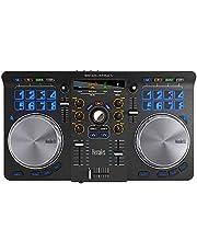 Hercules Universal DJ (2-Deck DJ Controller, Bluetooth, 16 Performance-Pads, Audio In/Out, DJUCED, PC/Mac/iOS/Android), zwart