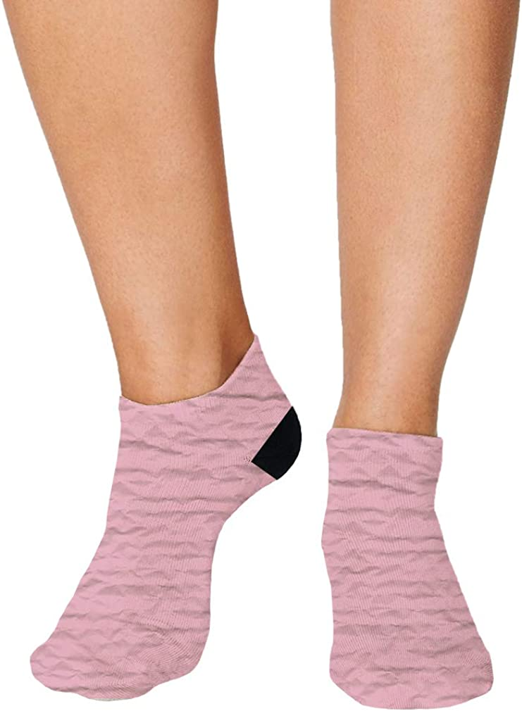Pink Crumpled Paper Style2 Men-Women Adult Ankle Socks Crazy Novelty Socks