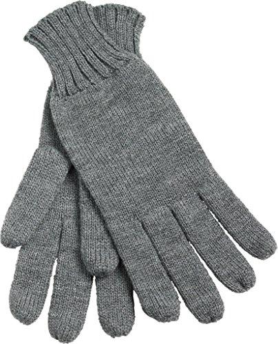 Myrtle Beach Gants tricotés avec rebord (S-M, dark-grey melange)
