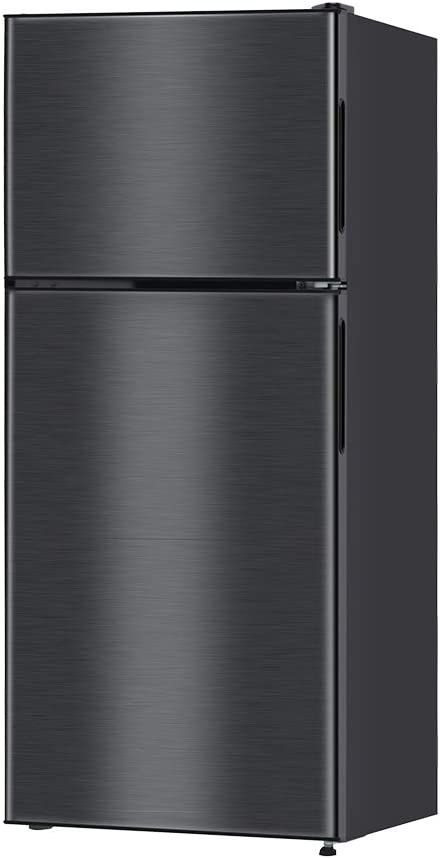 maxzen 冷蔵庫 118L 一人暮らし 2ドア マクスゼン コンパクト 小型 ガンメタリック JR118ML01GM