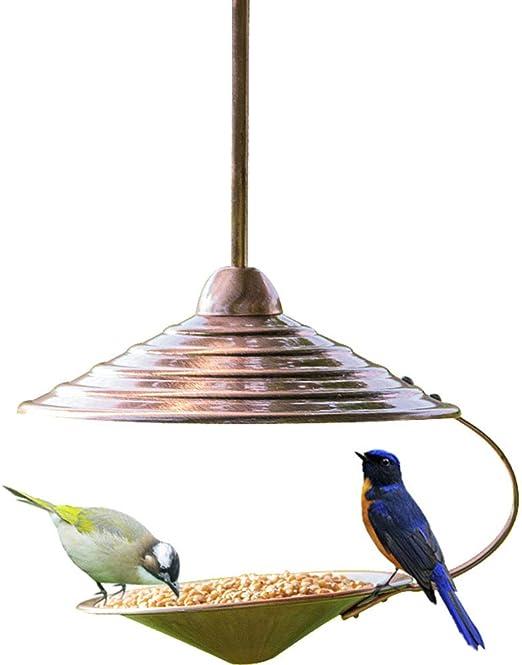 CHENGL Comedero para pájaros Panorama de Cobre - Comedero Colgante para pájaros Silvestres para el jardín Jardín Comederos Colgantes para pájaros Silvestres: Amazon.es: Productos para mascotas