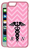 [TeleSkins] - Pink Chevron Rn Nurse - iPhone 6 / iPhone 6S Case - Ultra Durable Slim Fit,Protective Plastic Snap On Back Case / Cover for Girls [Fits (4.7