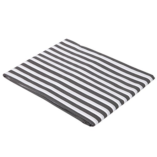 (Grey Pin Stripes Crib Fitted Sheet)