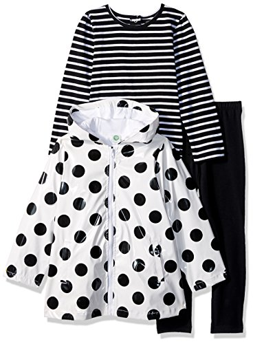 little me Baby Girls '5 piezas chamarra y pantalones Set, blanco y ne