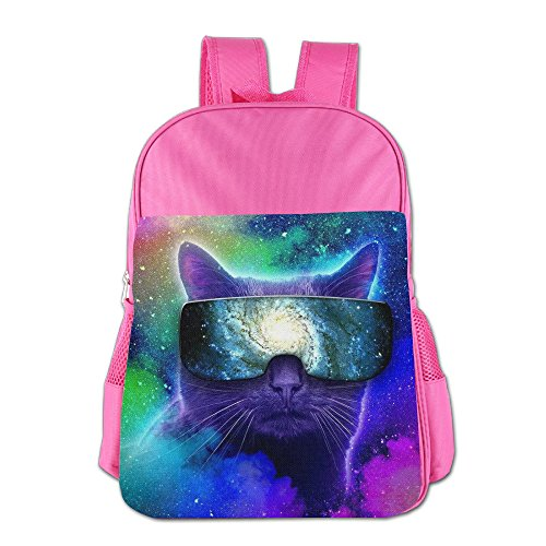Space Cat Kid's School Bag For 4-15 Years Old Child ShoulderBackpack Pink For - Bill Sunglasses Dance