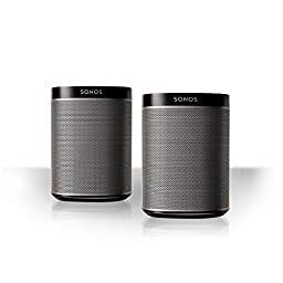 Sonos Play:1 All-In-One Compact Wireless Music Streaming Speaker - Pair (Black)