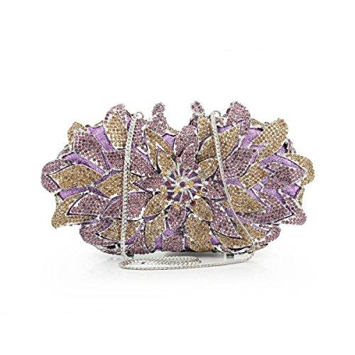 Señora Diamantes Bolso De Tarde Bolso De Embrague Caja Dura Bolso C