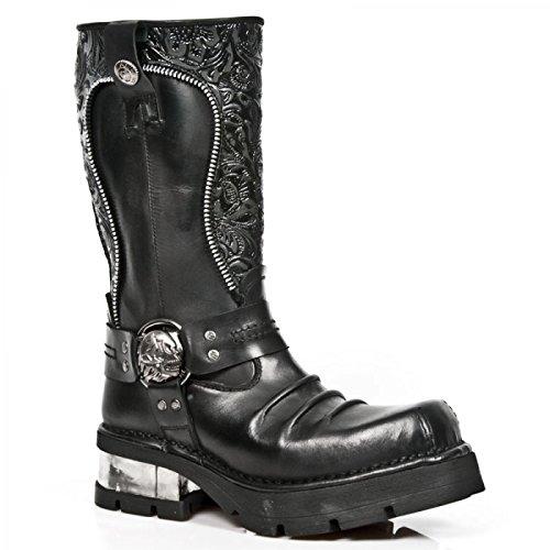 1625 Herren M New Stiefel Schwarz Handmade Rock C1 p4wRRqFfA