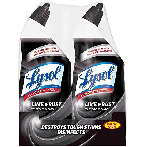 Lime Stain Removal - Lysol Lime & Rust Remover Toilet Bowl Cleaner, 48oz (2X24oz), 10X Cleaning Power