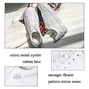 Lantina Women Sneakers Casual Low Top Sneaker White Ladies Walking Tennies Shoes