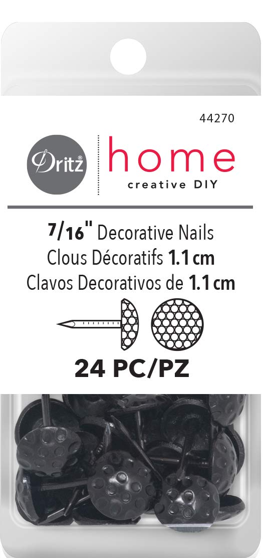 24 Pack 7//16 Black Dritz 44270 Upholstery Decorative Nails