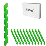 Yuauy 10 Pcs Green Wrap Spiral Bicycle Cable Sleeve Rubber Housing Protector Frame Guard for MTB...