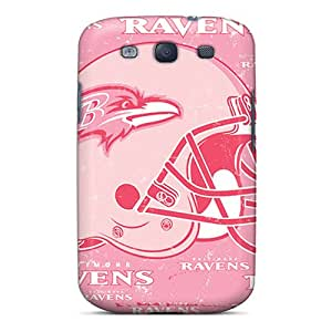 Protector Hard Phone Covers For Samsung Galaxy S3 With Provide Private Custom Colorful Baltimore Ravens Skin InesWeldon