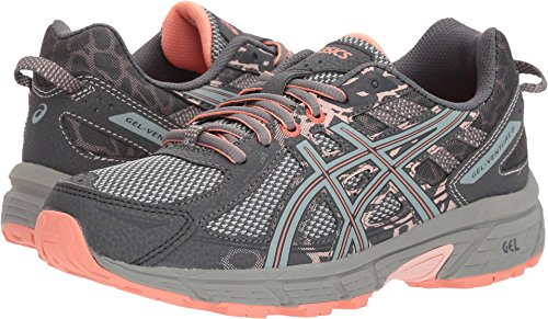 Asics Womens Gel-Venture 6 Carbon/Mid Grey/Seashell Pink Running Shoe - - Seashell Grey