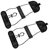 Bag Bungee, Zebre 2Pack Luggage Straps Suitcase Adjustable Belt Travel Accessories, Lightweight and Durable, Providing A Big Space for Trip (Black)