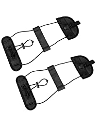 Bag Bungee, CBoner 2Pack Luggage Straps Suitcase Adjustable Belt Travel Accessories, Lightweight and Convenient ( Black )
