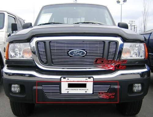 APS Compatible with 2003-2006 Ford Expedition Lower Bumper Billet Grille Insert N19-A37358F