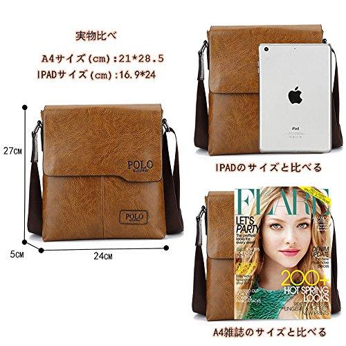 (JN1012-B) Bolso de hombro de cuero de la PU para hombre todos los tres colores Bolso de cuero marrón de moda 3 Bolso pequeño Bolso de hombro pequeño a prueba de agua Bronce