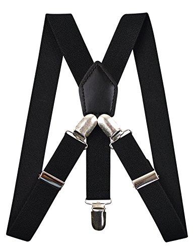 noir Largeur Clips Fille 2 Enfants Réglable Garçon 5cm 8 Avec Bretelles Pour Boucle RwH7XxqR