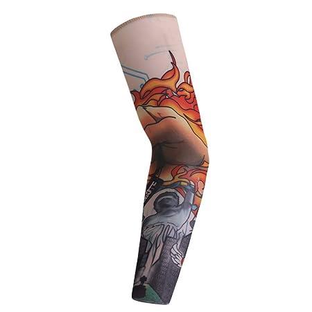 WANGYY 5 Unids Anti-Sol Moda Hombre Y Mujer Tatuaje Brazo Pierna ...