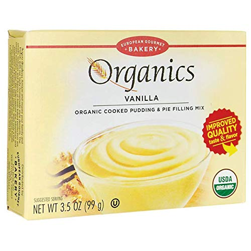 Organics Cooked Pudding & Pie Filling Mix - Vanilla 3.5 Ounce (99 Grams) Pkg
