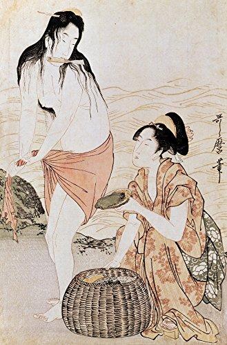 Japan Abalone Divers Ntwo Women Abalone Divers In Japan Woodblock Print By Kitagawa Utamaro 1797-98 Poster Print by (24 x 36)