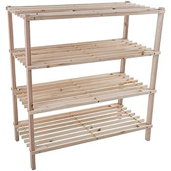 wood shoe rack storage bench u2013 closet bathroom kitchen entry organizer