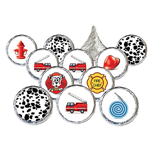 DISTINCTIVS Firefighter Birthday Party Favor Stickers, 324 Count