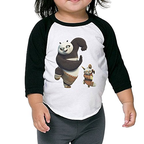 Kid's Kung Fu Panda Toddler Boy Girl 3/4 Sleeve Blended T Shirt 100% Cotton 2 Toddler]()