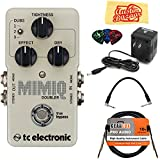 TC Electronic Mimiq Doubler Bundle with Power Supply, Instrument Cable, Patch Cable, Picks, and Austin Bazaar Polishing Cloth