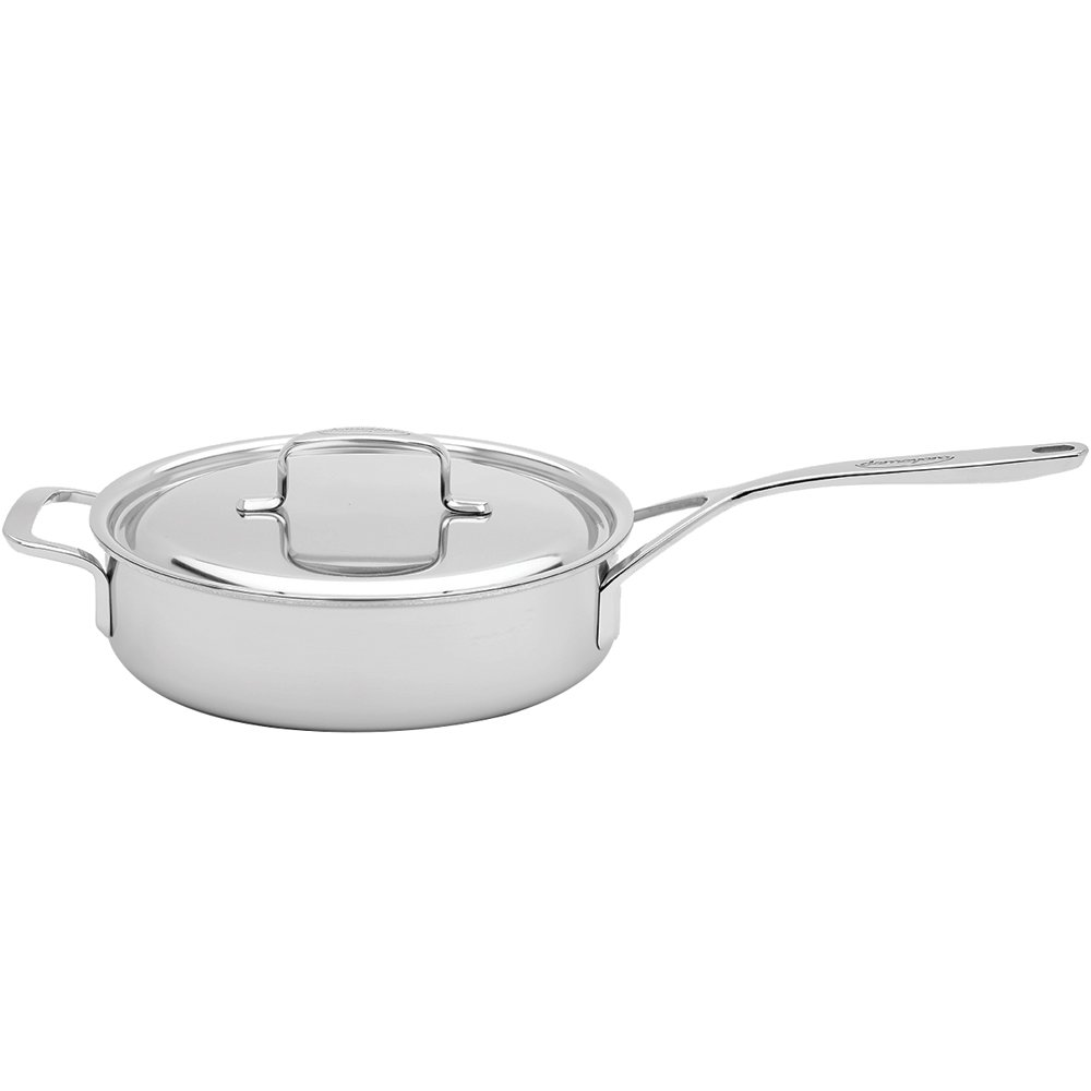 Demeyere 5-Plus Stainless Steel 6.5-qt Saute Pan with Helper Handle