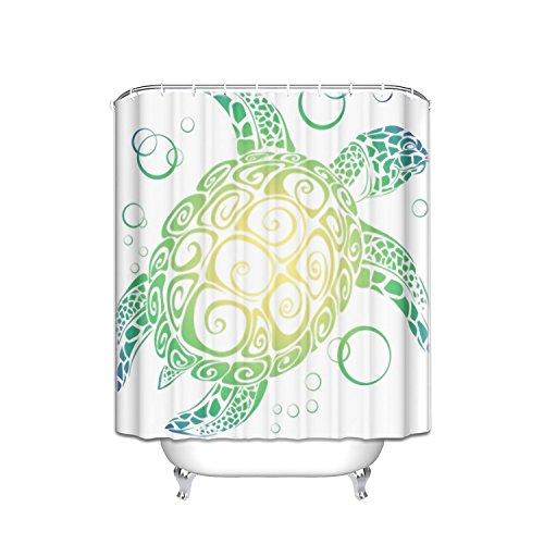 Sea Turtle Waterproof Bathroom decor Child boy girls Fabric Shower Curtain Polyester 72x84inch by Crystal Emotion