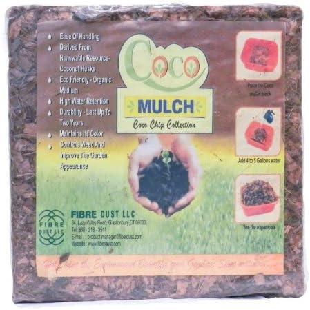 Amazon.com: FibreDust Coco Mulch, 11 libras: Jardín y Exteriores