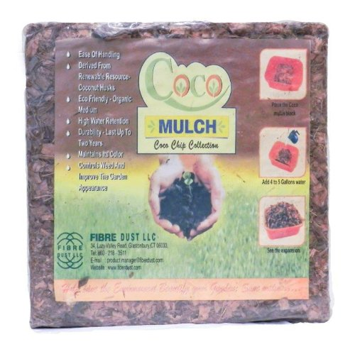 FibreDust CoCo Mulch, 11- Pounds (Landscaping Wood Chips)