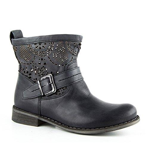 Felmini - Damen Schuhe - Verlieben Beja 8747 - Stiefeletten - Echte Leder - Schwarz