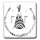 3d rose llc - 3D Rose lsp_221393_2 Teepee with Arrow Curved Frame Double Toggle Switch