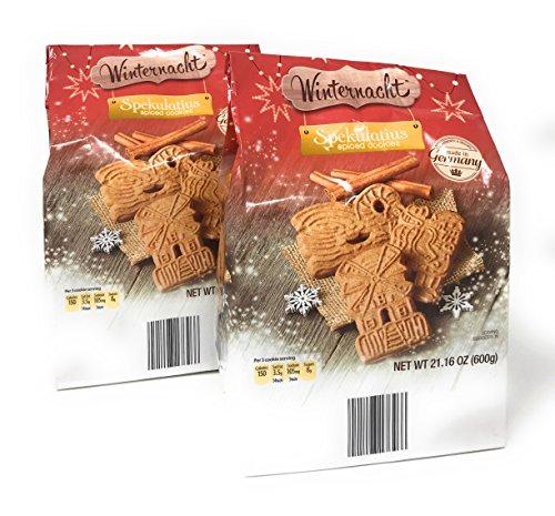 Spiced Cookies, Spekulatius Authentic German Holiday Cookies by Winternacht 600 grams (pack of 2)