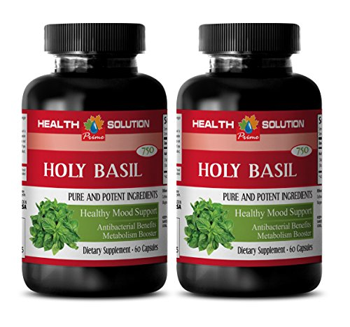 Basil vitamin - HOLY BASIL - Basil extract - 2 Bottle 120 Capsules