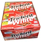 Trident White Sugarless Gum, Cinnamon, 12-12 Piece Packs (144 Pieces Per Box!)