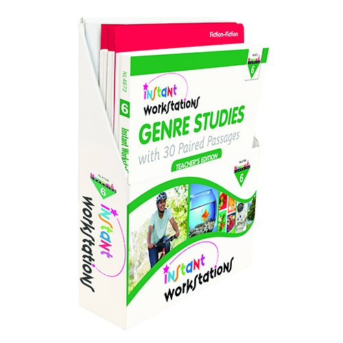 Newmark Learning Nl4708 Instant Workstations  Genre Studies With 30 Paired Passages Gr  6