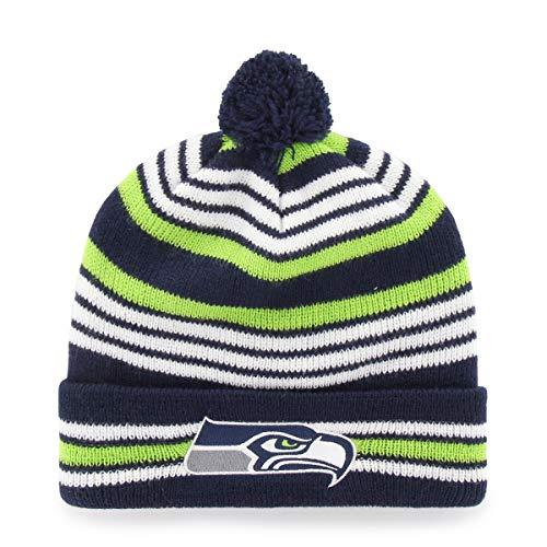 NFL Seattle Seahawks Kid's Rickshaw OTS Cuff Knit Cap with Pom, Light Navy, Kid's