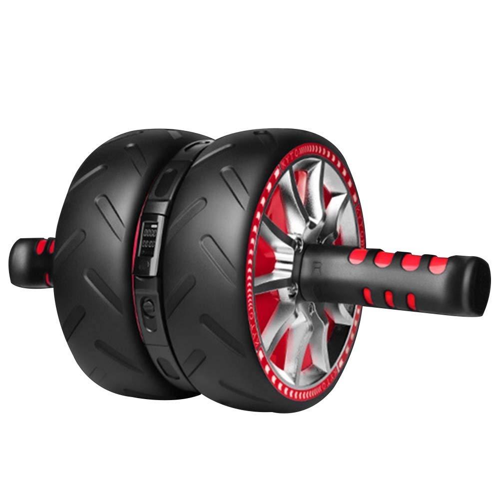 JIANFEI アブホイールLED電子ディスプレイ 自動カウント ジム ユニセックス 、2色 (色 : Red, サイズ さいず : 43x22.5x17.5cm) 43x22.5x17.5cm Red B07P9XGWWZ