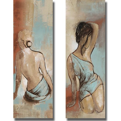 Seated Woman Panel by Patricia Pinto 2-pc Premium Gallery-Wrapped Canvas Giclee Art Set (Ready to Hang)